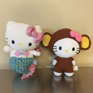 Hello Kitty Mermaid & Monkey